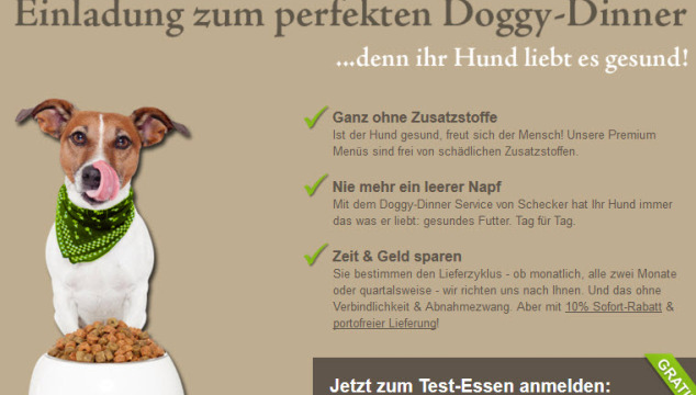 Gratis Hundefutter bei Doggy-Dinner!
