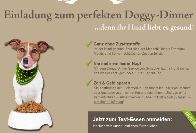 Gratis Doggy Dinner bestellen